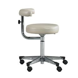 Physician Exam Stool with Procedure Arm and Aluminum Base