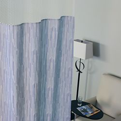 """Patterned Print Privacy Curtain - 66""""W x 74""""H"""