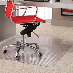 """Crystal Clear Chair Mat With Lip for Carpets 36""""W x 48""""D"""