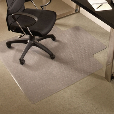 "Premium 36"" x 48"" Chair Mat with Lip for Carpet"