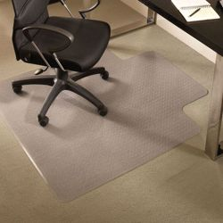 "Premium 45"" x 53"" Chair Mat with Lip for Carpet"
