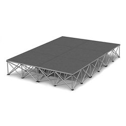 "Rectangular Carpeted Stage Set - 12'W x 16""H"