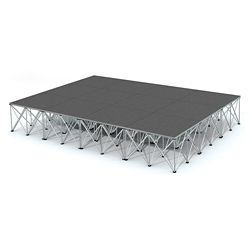 Rectangular Carpeted Stage Set - 12'W x 24'H