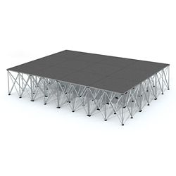 Rectangular Carpeted Stage Set - 12'W x 32'H