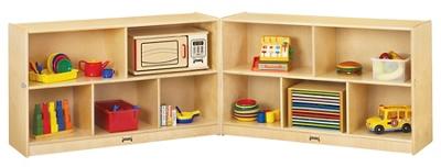 Children's Low Mobile Folding Storage Unit