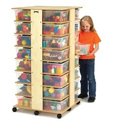 Children's 32 Tub Tower with Clear Tubs