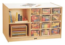 Children's Storage Island with Clear Trays