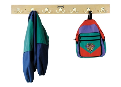 Children's Seven-Hook Wall-Mounted Coat Rail