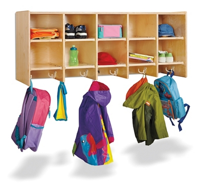 Children's 5 Section Hanging Locker Without Trays