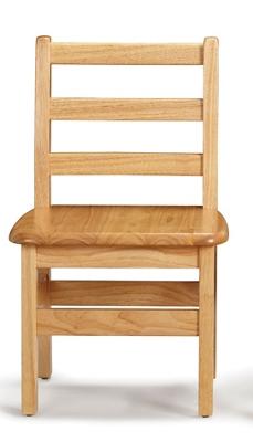 "Children's Pair of Ladderback Chairs - 12"" Seat"