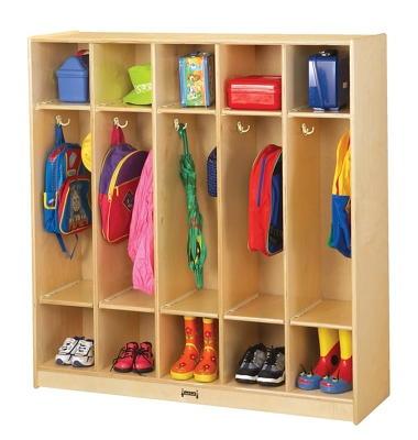 Children's 5 Section Coat Locker