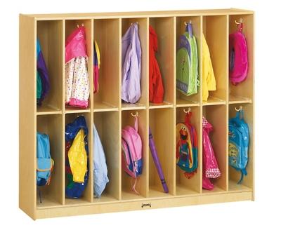 Children's Twin Trim 16 Section Locker