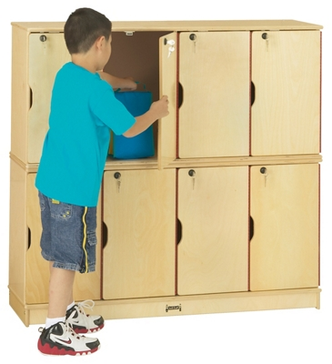 Children's Double Stacking 5 Section Lockers