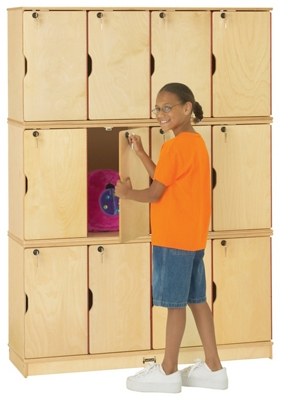 Children's Triple Stacking 5 Section Lockers