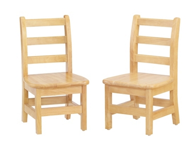 "Children's Pair of Ladderback Chairs - 8"" Seat"