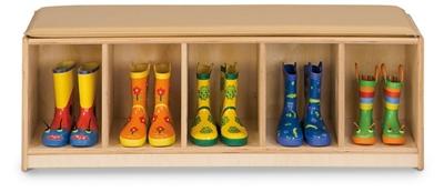 Children's Five Section Bench Locker
