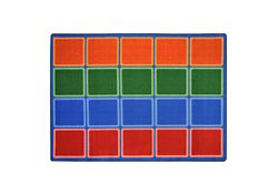 "Blocks Abound Rectangle Rug 129"" x 158"""