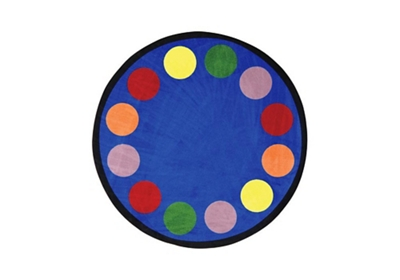 "Lots of Dots Round Rug 158"" Diameter"