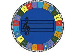 Noteworthy Elementary Music Round Rug