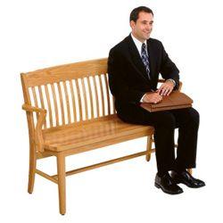 "Wood Bench - 53"" W"