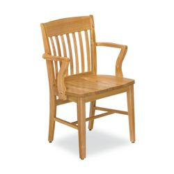 Rustic Wood Chair with Arms