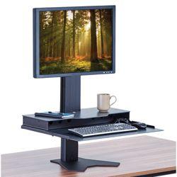 Height Adjustable Single Monitor Platform