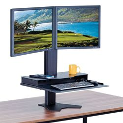 Height Adjustable Double Monitor Platform