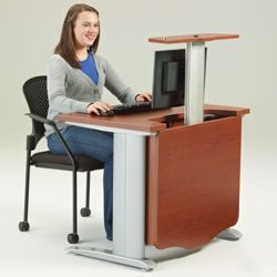 """48"""" Wide Desk with Monitor Lift"""