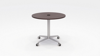 "Workwell Round Media Table with Casters - 36"" Diameter"