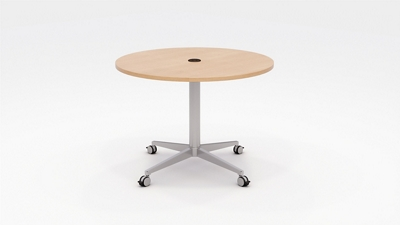 "Workwell Round Media Table with Casters - 42"" Diameter"