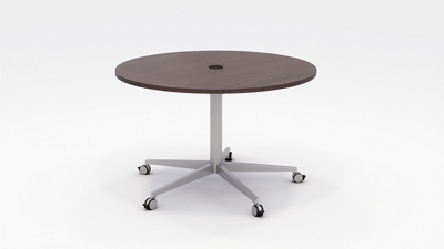 "Workwell Round Media Table with Casters - 48"" Diameter"