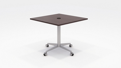 "Workwell Media Table with Casters - 36""W"