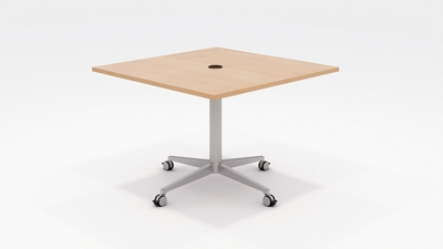 "Workwell Media Table with Casters - 42""W"