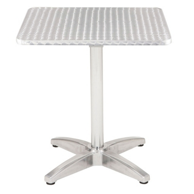 "Bar Height Square Stainless Steel Outdoor Table - 32""W x 32""D"