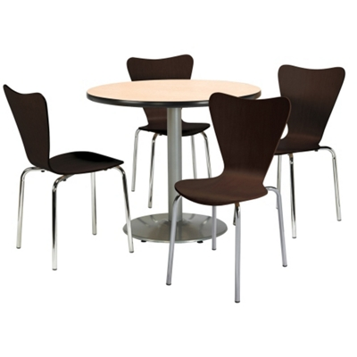 Round Pedestal Table And Bentwood Chair Set   36 Diameter   41750 And More  Lifetime Guarantee