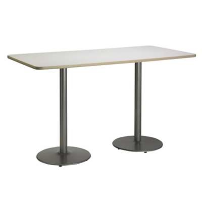 "Bar Height Two-Pedestal Table with Round Base - 72""W x 30""D"