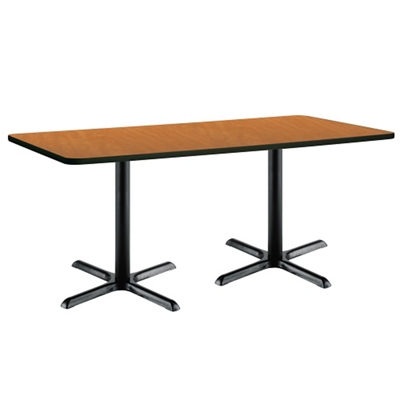 "Two-Pedestal Table with X-Base - 72""W x 30""D"