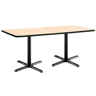 "Two-Pedestal Table with X-Base - 72""W x 36""D"