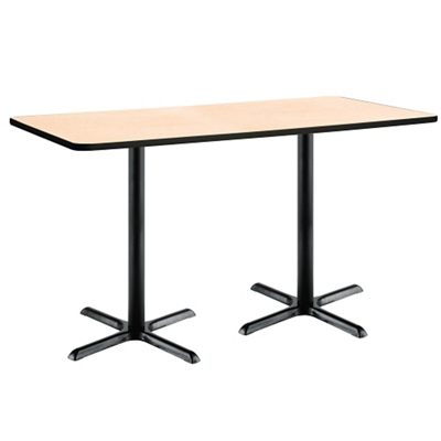 """Bar Height Two-Pedestal Table with X-Base - 72""""W x 36""""D"""