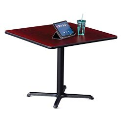 "36""W Square X-Base Breakroom Table"