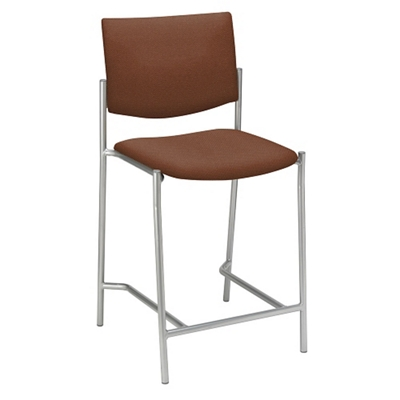 Armless Upholstered Back Stool