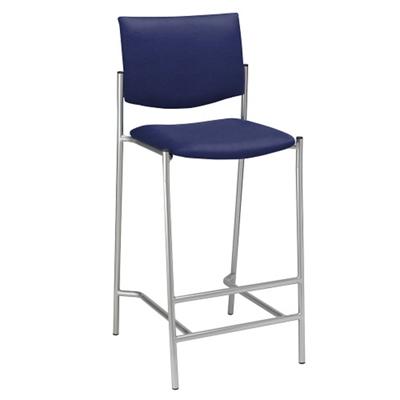 Armless Upholstered Back Barstool