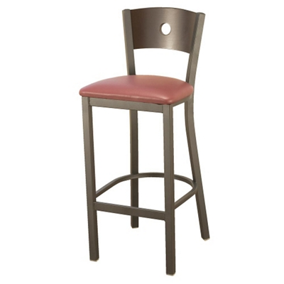 Barstool with Vinyl Seat and Circular Cut-Out