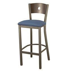 Barstool with Fabric Seat and Circular Cut-Out