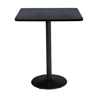 "Bar Height Square Table with Black Base - 30""W x 30""D"