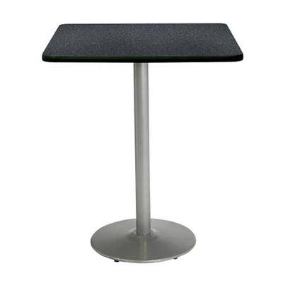 """Bar Height Square Table with Silver Base - 30""""W x 30""""D"""