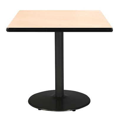 """Square Table with Black Base - 36""""W x 36""""D"""