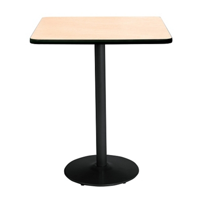 "Bar Height Square Table with Black Base - 36""W x 36""D"