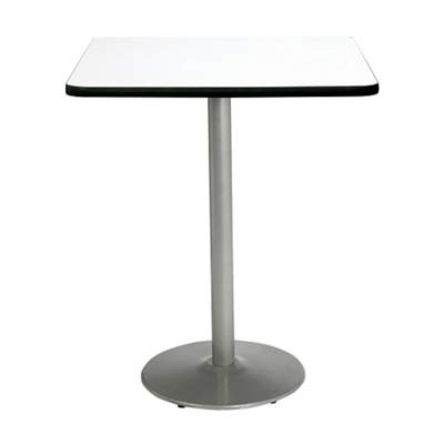 """Bar Height Square Table with Silver Base - 36""""W x 36""""D"""