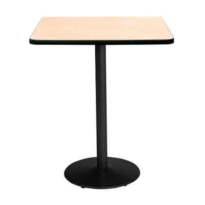 "Bar Height Square Table with Black Base - 42""W x 42""D"